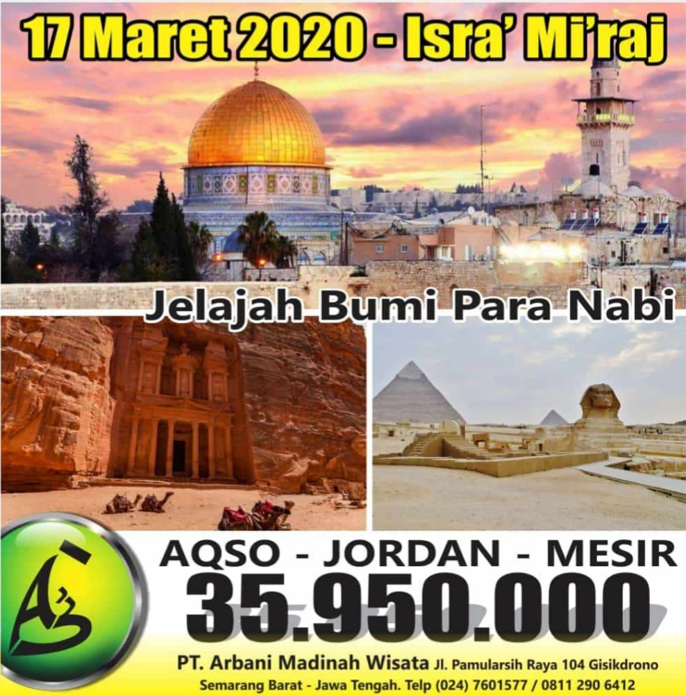 Wisata Halal Aqso Jordan mesir